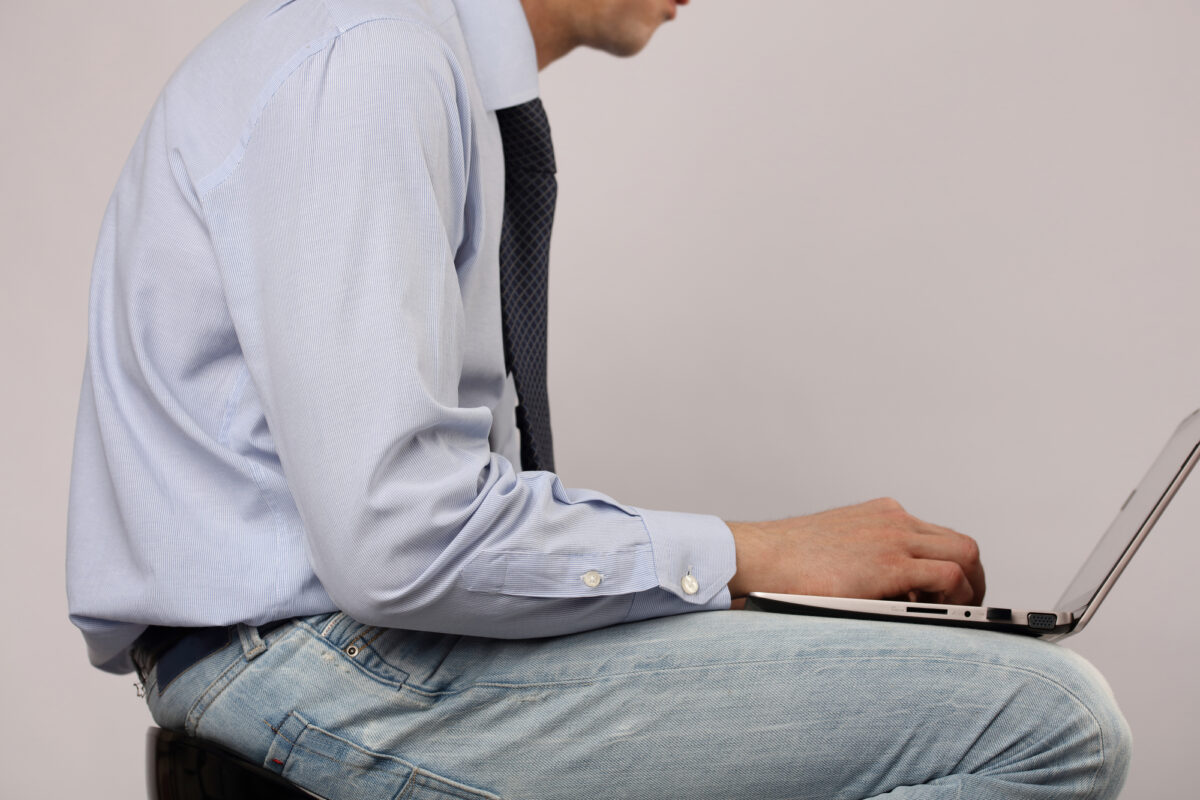 Bad posture is an obvious cause of persistent back pain.