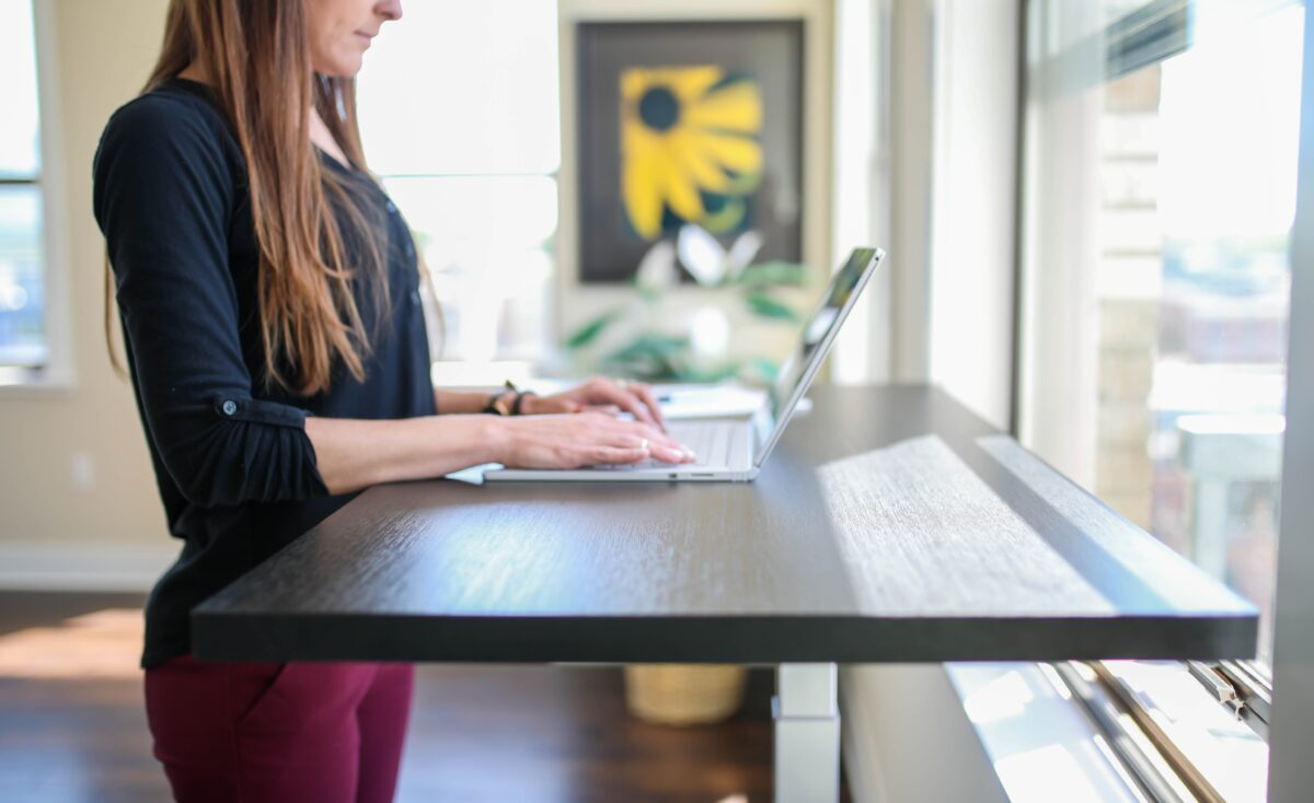 Among the many benefits of a standing desk: increased productivity.